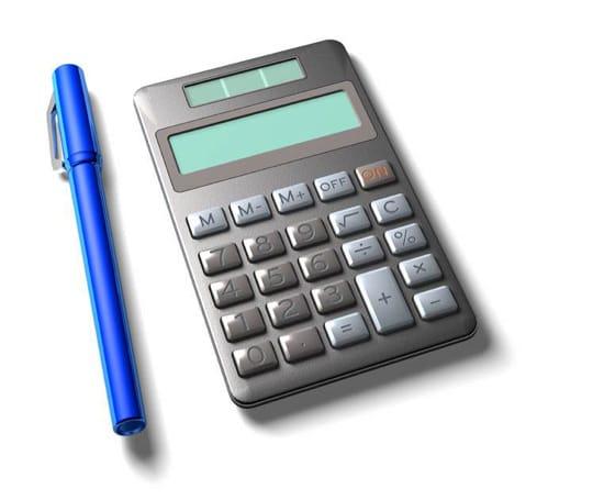 Penna och miniräknare